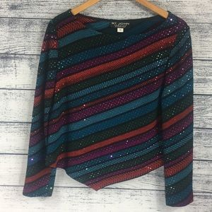 St. John Evening Knit Long Sleeve Sparkly, Sweater